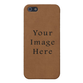 Vintage Leather Brown Parchment Paper Background Case For The iPhone 5