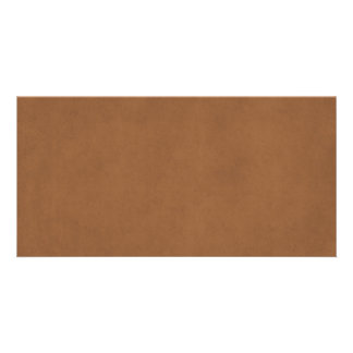 Vintage Leather Brown Parchment Paper Template Photo Card Template