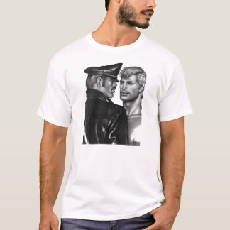 Vintage Leather Daddy Dom Sub Drawing Shirt