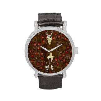 Vintage Leather Llama Poppy Watch