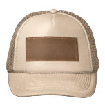 Vintage LEATHER Look Print Finish : Template Hats