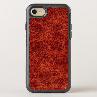 Vintage Leather Red Rust Medium Grain Book OtterBox Symmetry iPhone 7 Case
