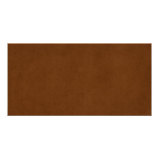 Vintage Leather Tanned Brown Parchment Paper Customised Photo Card