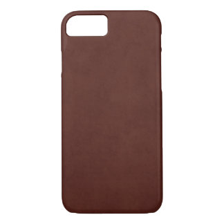 Vintage Leather Tanned Brown Parchment Paper iPhone 7 Case