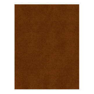 Vintage Leather Tanned Brown Parchment Paper Postcard