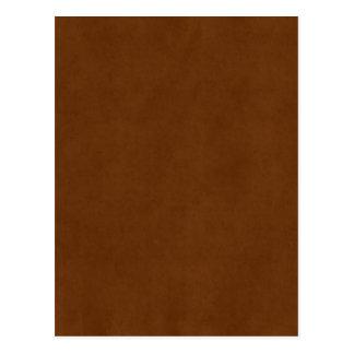 Vintage Leather Tanned Brown Parchment Paper Postcard