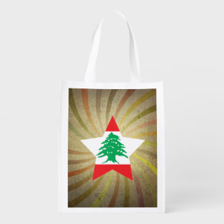 Vintage Lebanese Flag Swirl