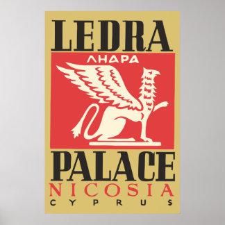 Vintage Ledra Palace Hotel Cyprus travel Posters