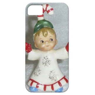 Vintage Lefton Christmas Candy Cane Kid iPhone 5 Cases