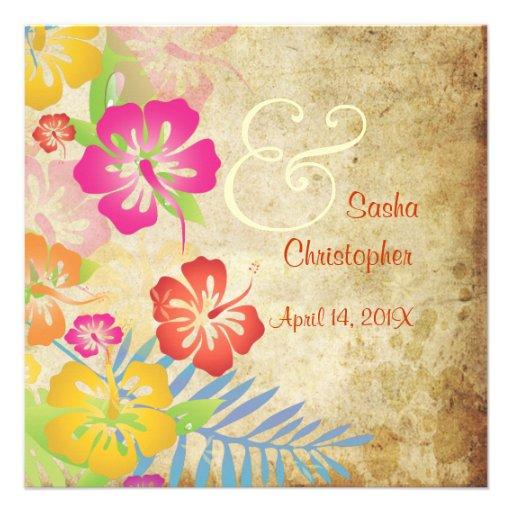 Vintage/Leis/Luau/hibiscusWedding Invitations