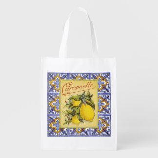 Vintage Lemon Ad, grocery bag