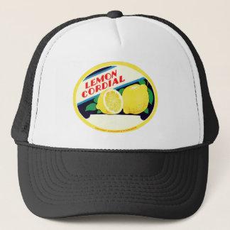 Vintage Lemon Cordial Label Trucker Hat