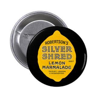 Vintage Lemon Marmalade Label 6 Cm Round Badge