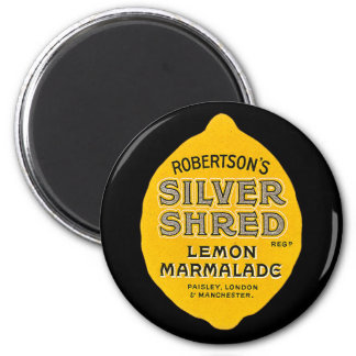 Vintage Lemon Marmalade Label 6 Cm Round Magnet