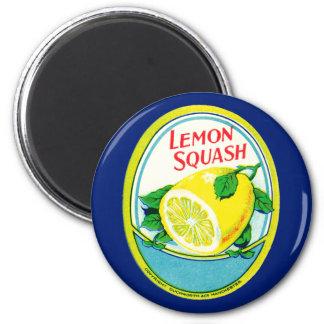 Vintage Lemon Squash Label Magnet
