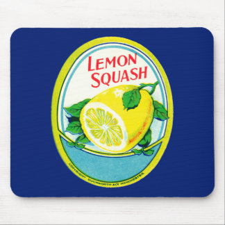 Vintage Lemon Squash Label Mouse Mat