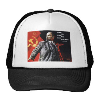 VINTAGE LENIN SOVIET POSTER Trucker Hat