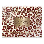 Vintage Leopard RSVPs require 5x7 invitations 11 Cm X 14 Cm Invitation Card