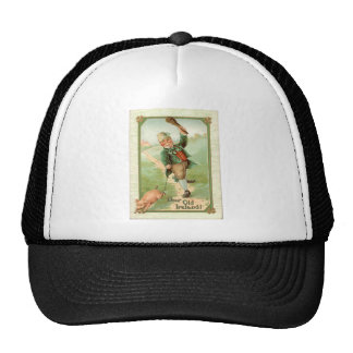 Vintage Leprechaun Pig Shillelagh St Patrick s Day Hat