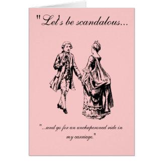 VIntage Let s Be Scandalous Valentine s Day Card