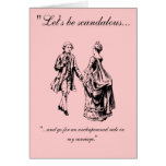 VIntage Let's Be Scandalous Valentine's Day Card