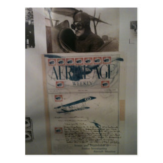 Vintage letter aviation history postcard