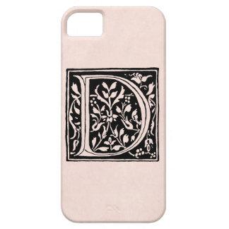 """Vintage Letter D Monogram Rose Pink Parchment """"D"""" iPhone 5 Covers"""