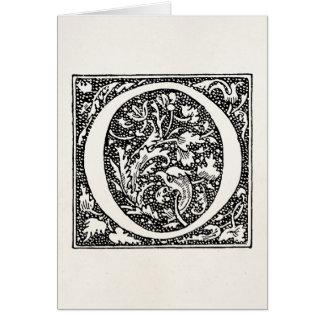 "Vintage Letter O Monogram Parchment ""O"" Initials Card"