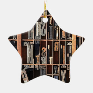 Vintage Letterpress Blocks Christmas Ornament