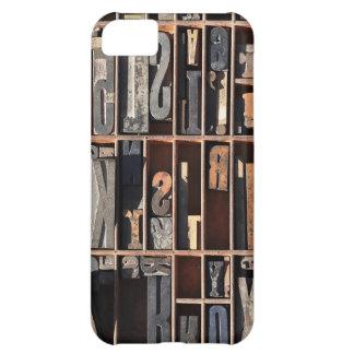 Vintage Letterpress Blocks iPhone 5C Case