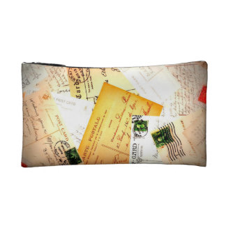 Vintage Letters Bag Cosmetic Bags
