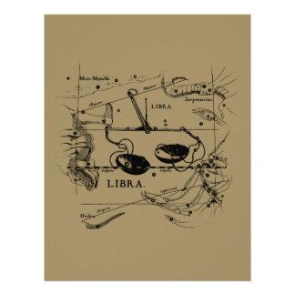 Vintage Libra Constellation Hevelius Style 21.5 Cm X 28 Cm Flyer