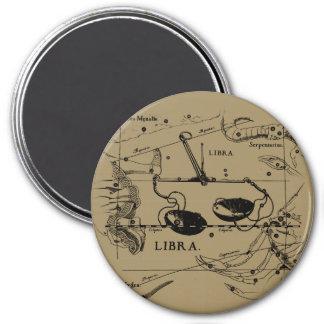 Vintage Libra Constellation Hevelius Style 7.5 Cm Round Magnet