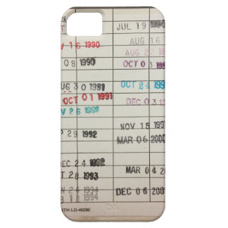 Vintage Library Due Date Cards Barely There iPhone 5 Case