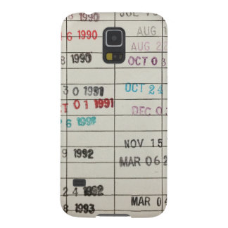 Vintage Library Due Date Cards Galaxy S5 Case