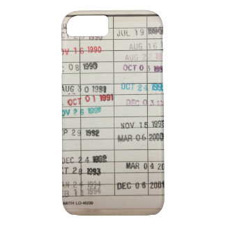 Vintage Library Due Date Cards iPhone 8/7 Case