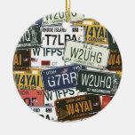 Vintage License Plates Ornament