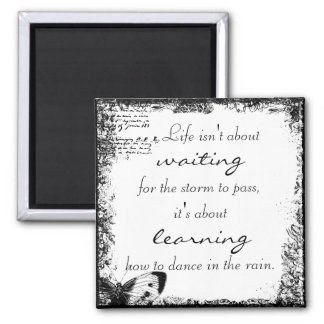 Vintage Life Dance Quote Magnet