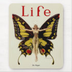 Vintage Life Flapper Butterfly 1922 Mouse Mat