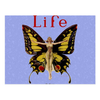 Vintage Life Flapper Butterfly 1922 Post Cards