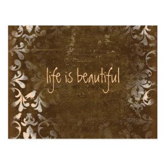 Vintage Life is Beautiful Postcards