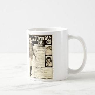 Vintage Life-size Inflatable Doll Advertisement Coffee Mug