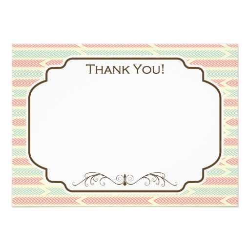 Vintage Light Blue and Pink Arrows Pattern Custom Announcement