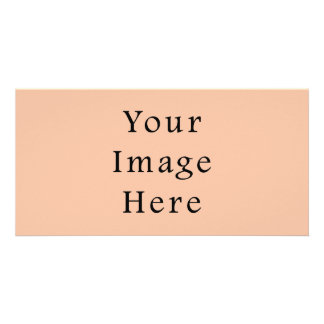 Vintage Light Peach Pink Color Trend Template Picture Card