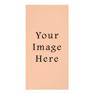 Vintage Light Peach Pink Color Trend Template Photo Greeting Card