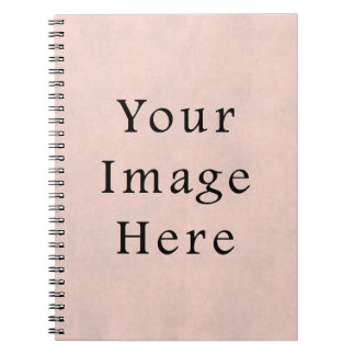 Vintage Light Rose Pink Parchment Paper Background Notebook