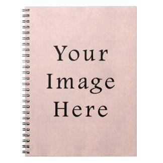 Vintage Light Rose Pink Parchment Paper Background Spiral Notebooks
