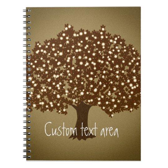 Vintage lighted tree rustic notebook journal