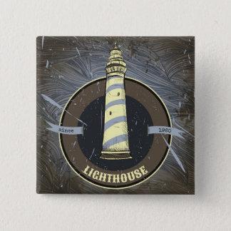 Vintage Lighthouse | 1960 15 Cm Square Badge
