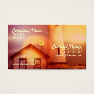 Vintage Lighthouse Business Card